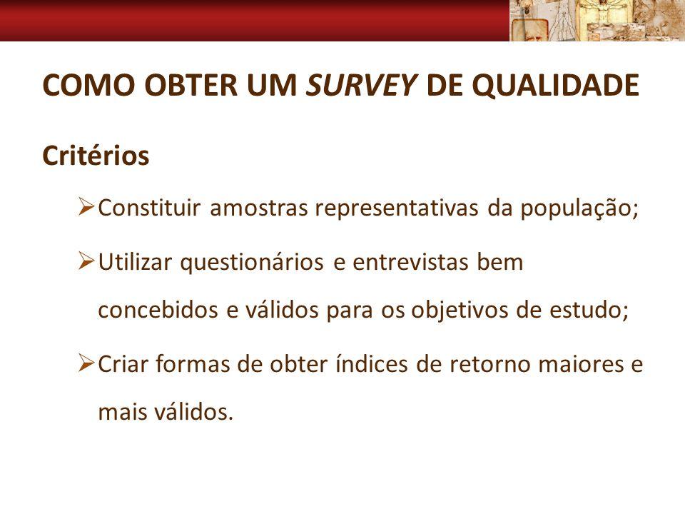 Como obter um Survey de qualidade
