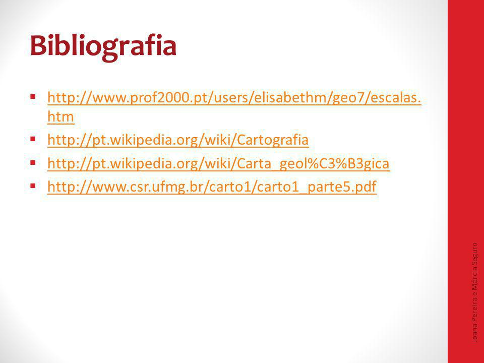 Bibliografia http://www.prof2000.pt/users/elisabethm/geo7/escalas.htm