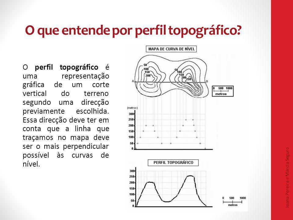 O que entende por perfil topográfico