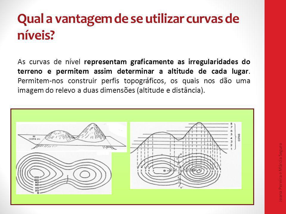 Qual a vantagem de se utilizar curvas de níveis