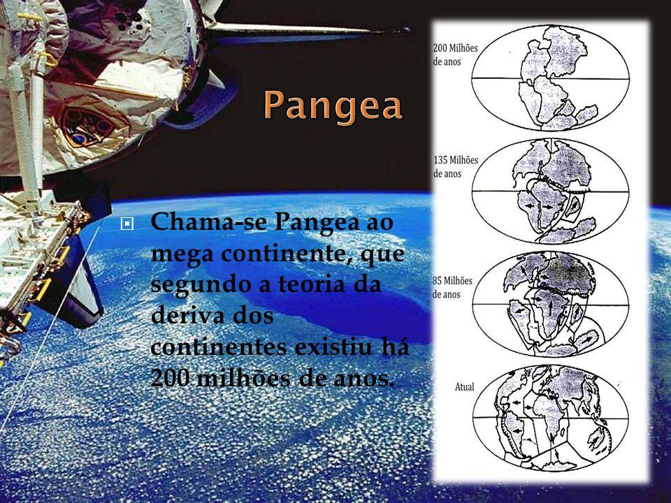 Pangea Chama-se Pangea ao mega continente, que segundo a teoria da deriva dos continentes existiu há 200 milhões de anos.