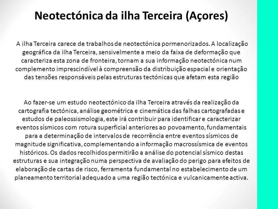 Neotectónica da ilha Terceira (Açores)