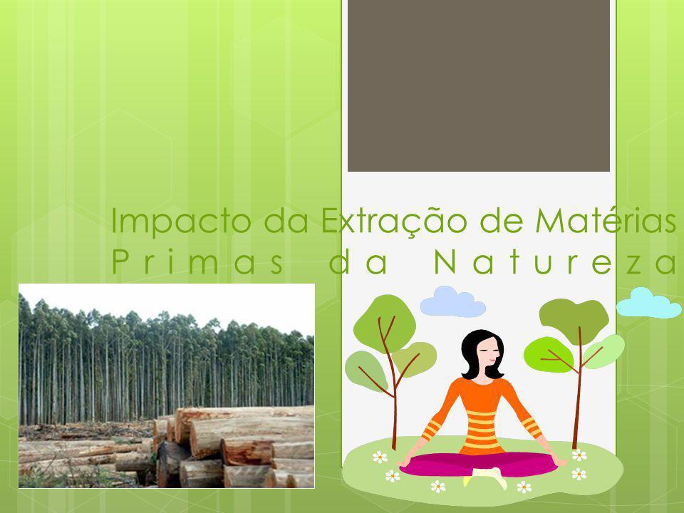 Impacto da Extração de Matérias Primas da Natureza