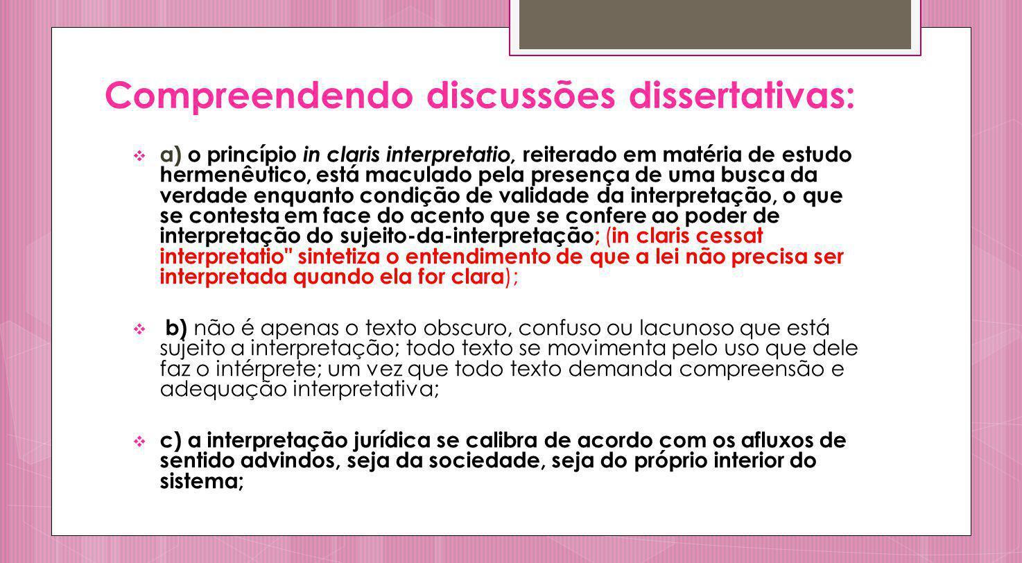 Compreendendo discussões dissertativas: