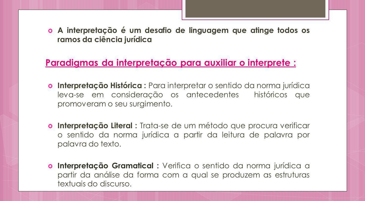 Paradigmas da interpretação para auxiliar o interprete :