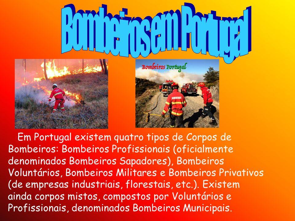 Bombeiros em Portugal