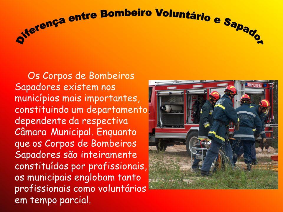 Diferença entre Bombeiro Voluntário e Sapador