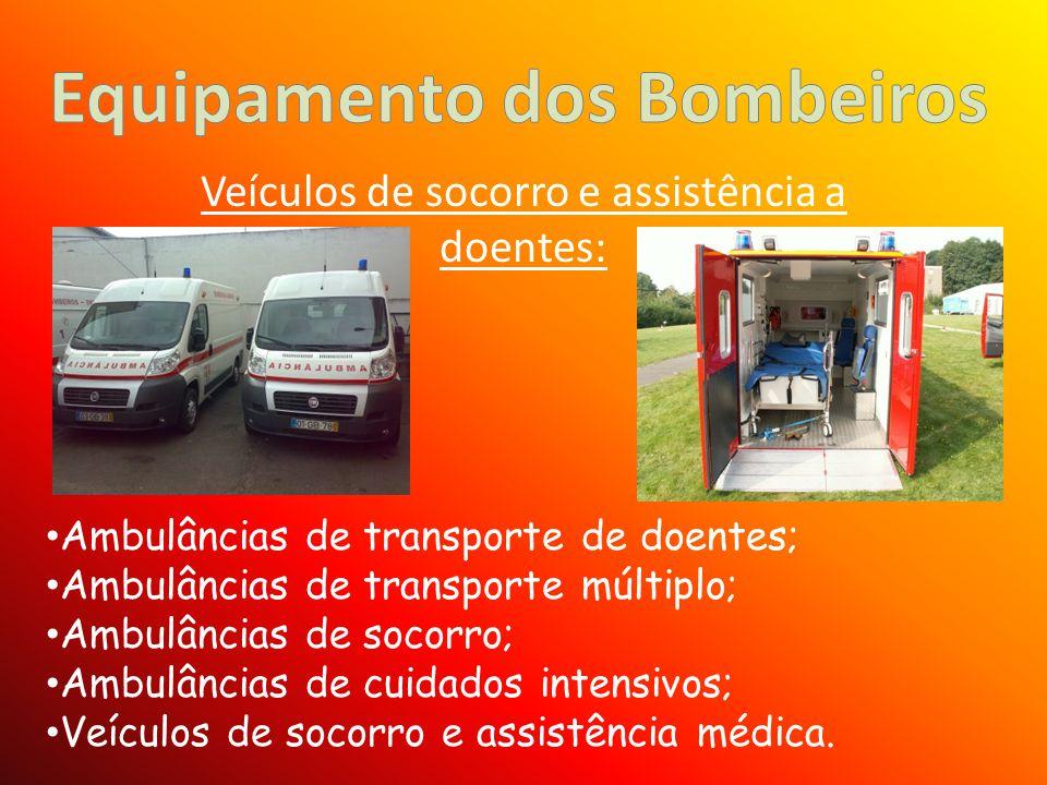 Veículos de socorro e assistência a doentes: