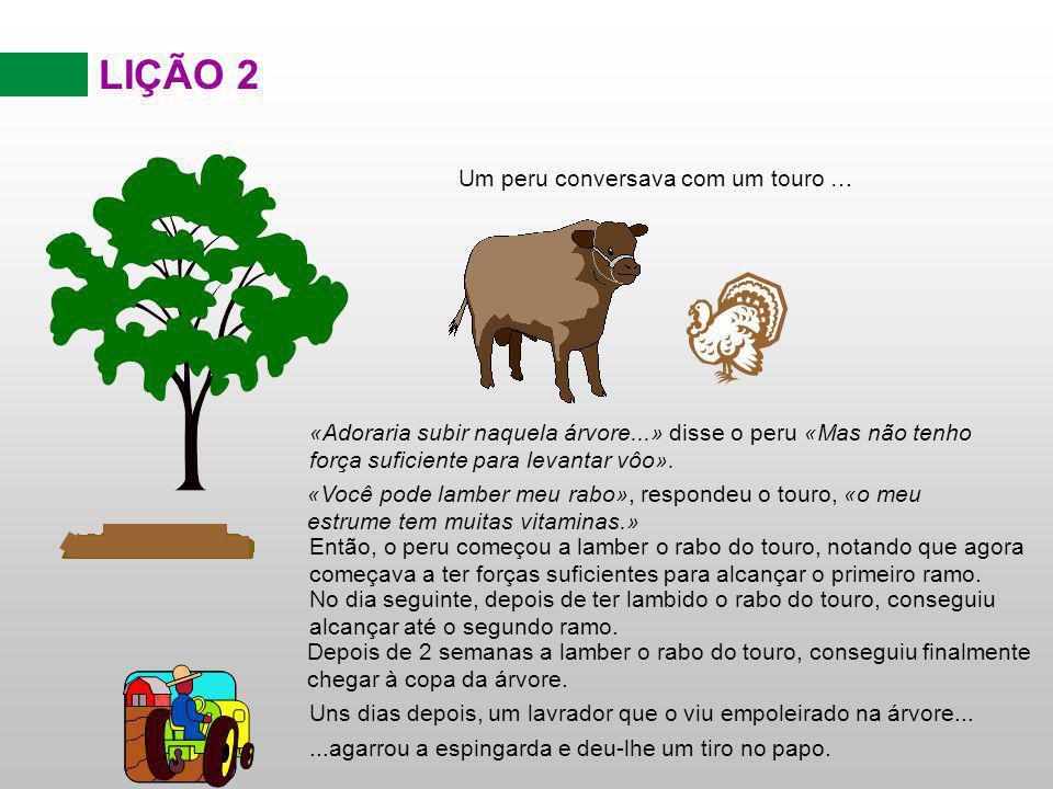 LIÇÃO 2 Um peru conversava com um touro …