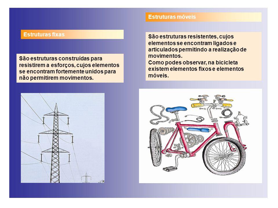 Estruturas móveis Estruturas fixas.