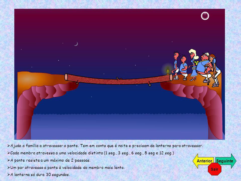 Ajuda a família a atravessar a ponte