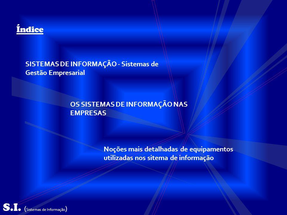 SISTEMAS DE INFORMAÇÃO - Sistemas de Gestão Empresarial