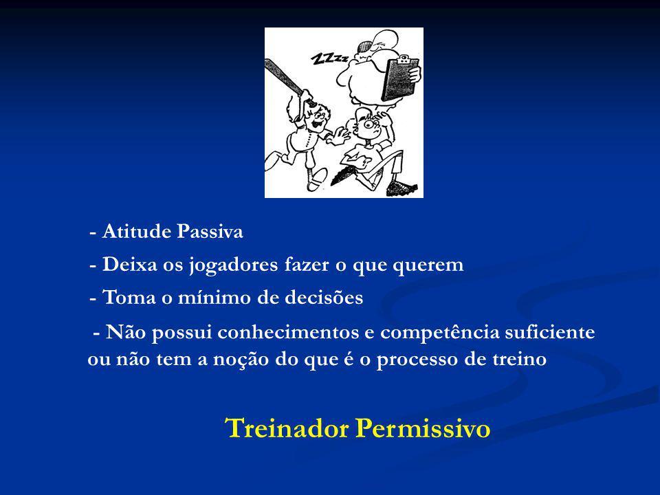 Treinador Permissivo - Atitude Passiva