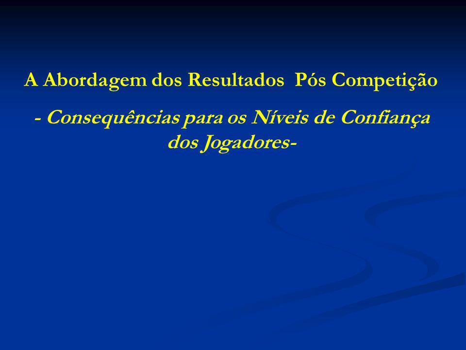 A Abordagem dos Resultados Pós Competição