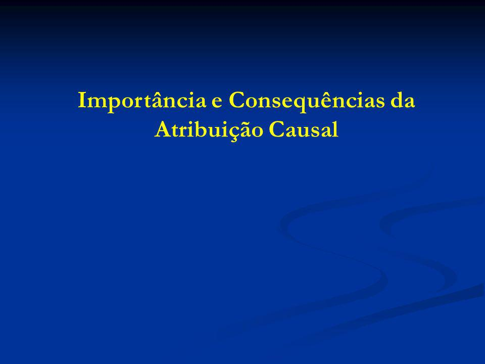 Importância e Consequências da Atribuição Causal