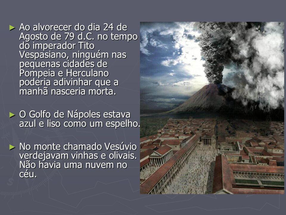 Ao alvorecer do dia 24 de Agosto de 79 d. C
