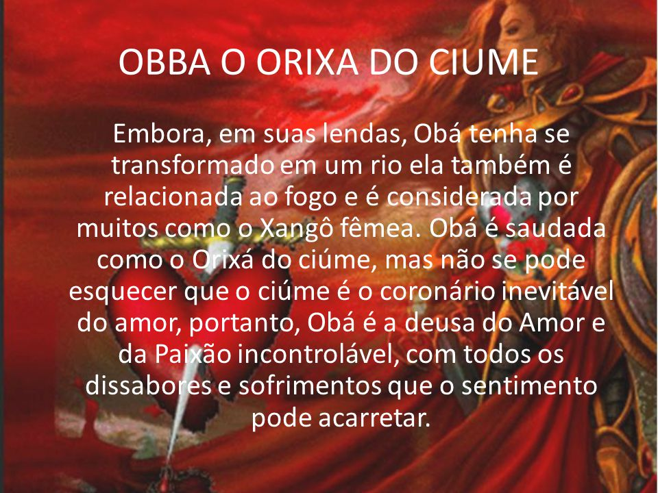 OBBA O ORIXA DO CIUME