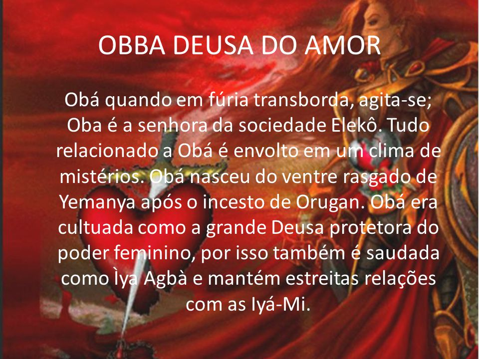 OBBA DEUSA DO AMOR