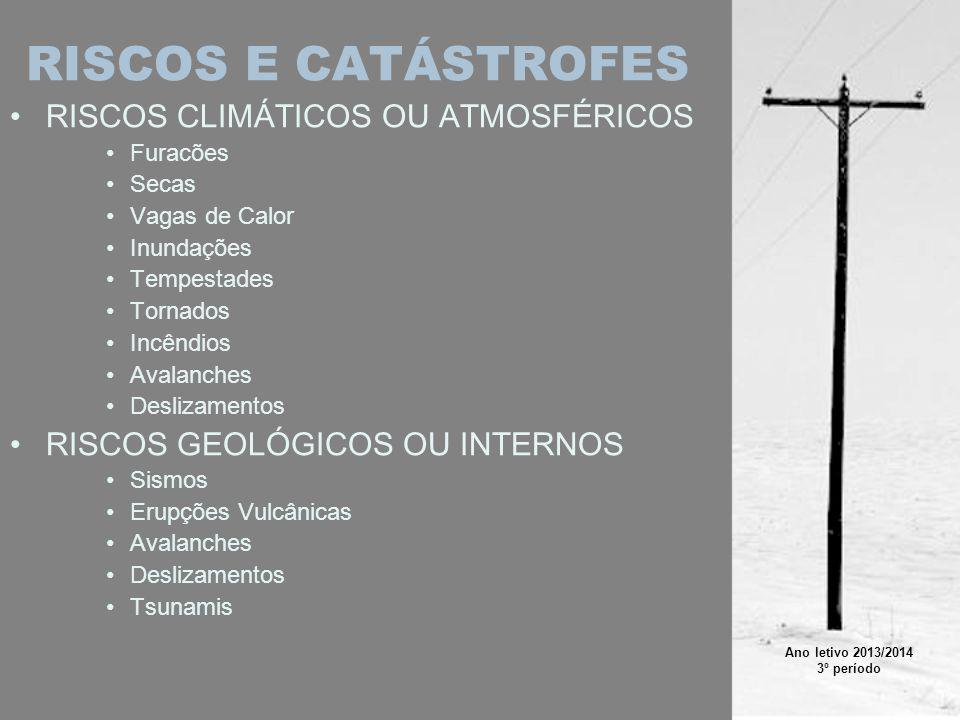 RISCOS E CATÁSTROFES RISCOS CLIMÁTICOS OU ATMOSFÉRICOS