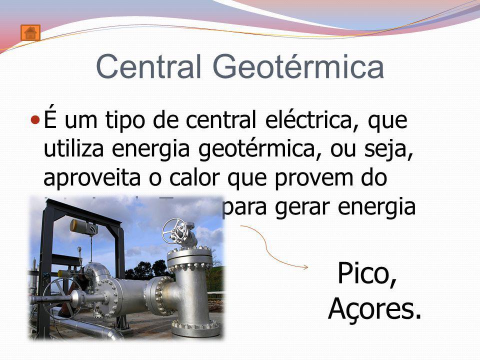 Central Geotérmica Pico, Açores.