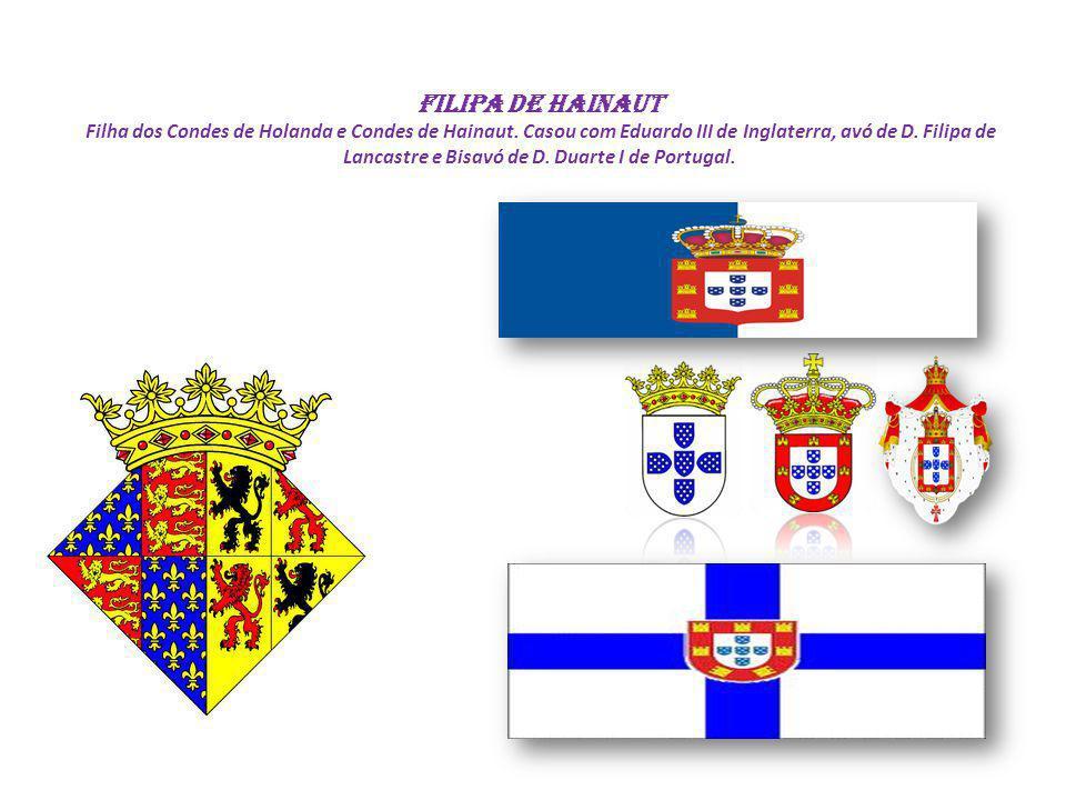 Filipa de Hainaut Filha dos Condes de Holanda e Condes de Hainaut