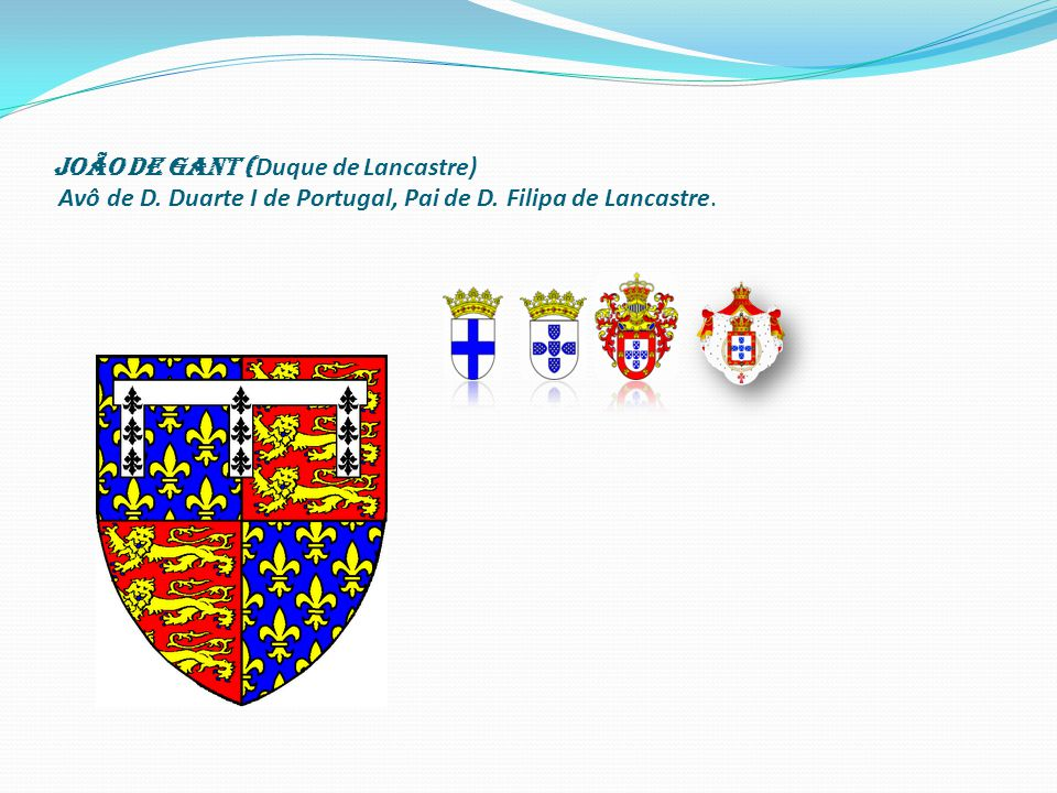 João de Gant (Duque de Lancastre) Avô de D