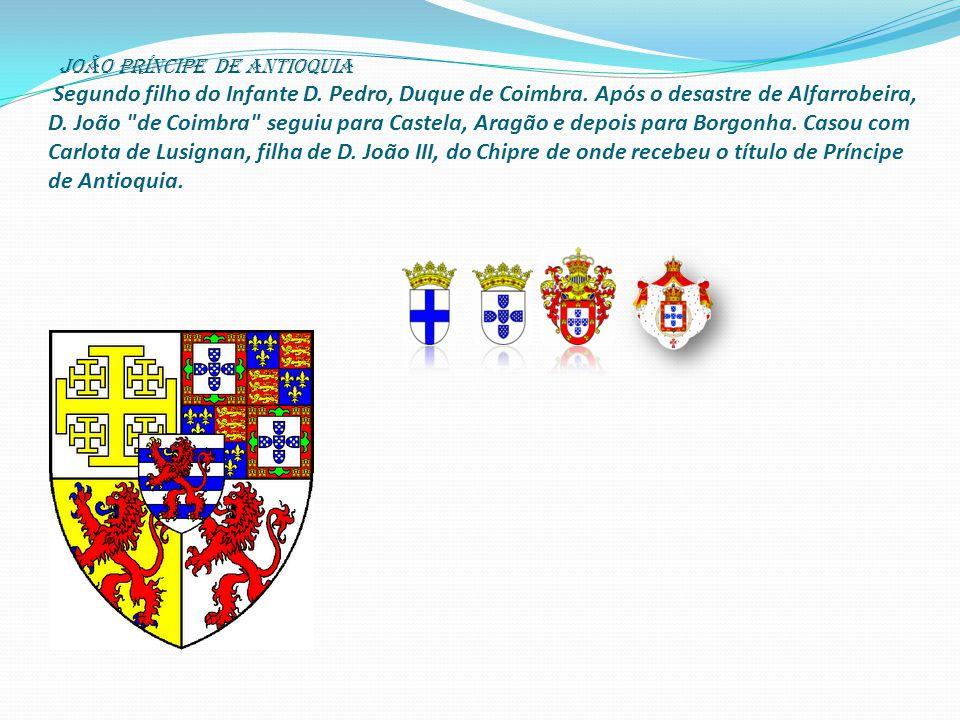 joão Príncipe de Antioquia Segundo filho do Infante D