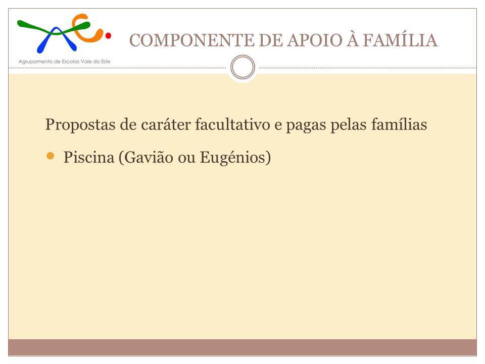 COMPONENTE DE APOIO À FAMÍLIA