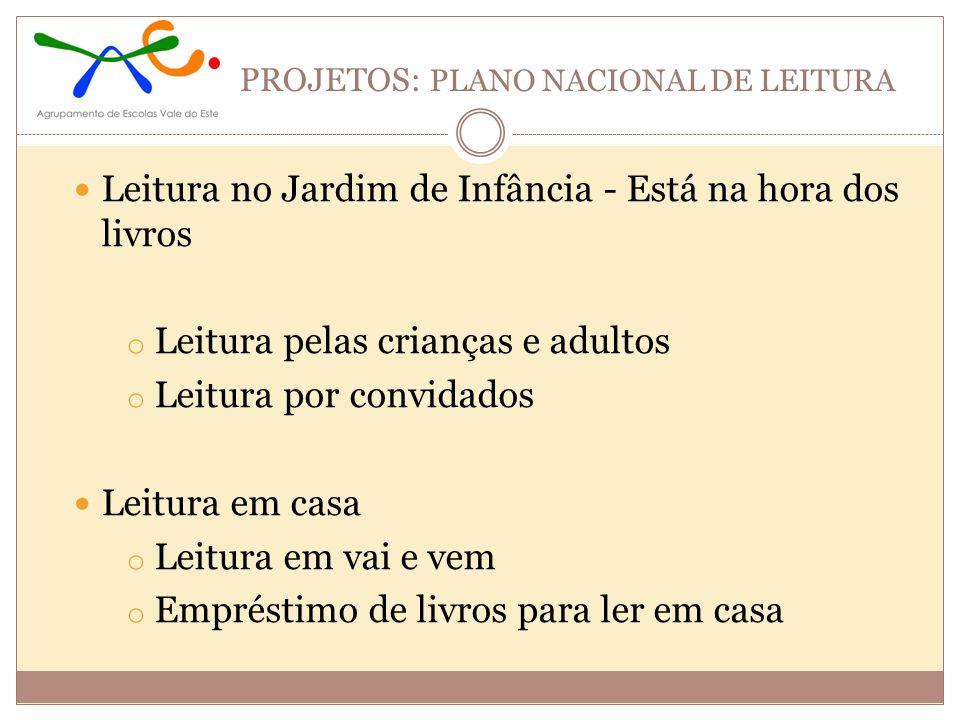 PROJETOS: PLANO NACIONAL DE LEITURA