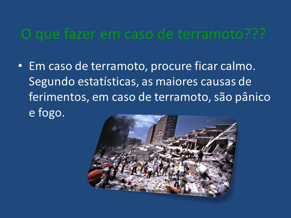 O que fazer em caso de terramoto
