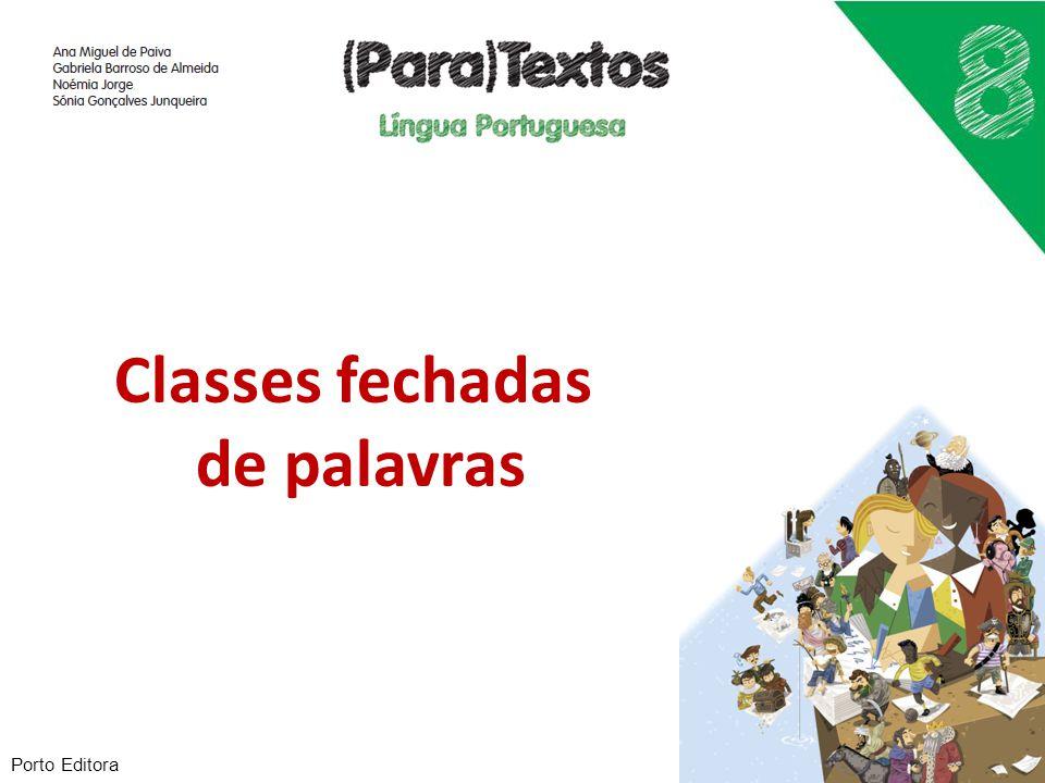 Classes fechadas de palavras