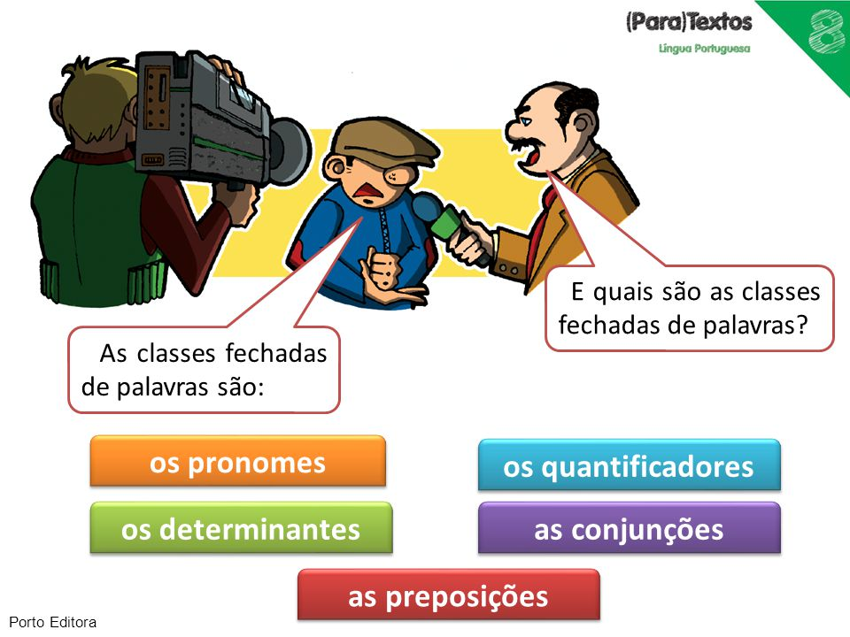 os pronomes os quantificadores os determinantes as conjunções
