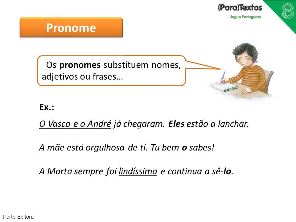 Pronome Os pronomes substituem nomes, adjetivos ou frases… Ex.: