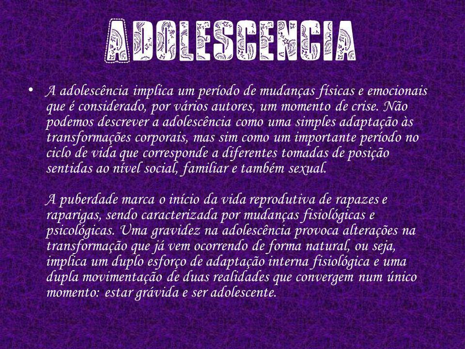 A adolescência implica um período de mudanças físicas e emocionais que é considerado, por vários autores, um momento de crise.