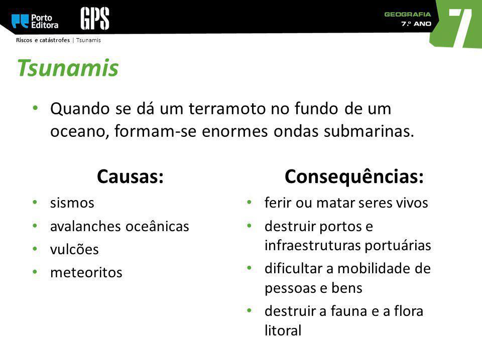 Tsunamis Causas: Consequências: