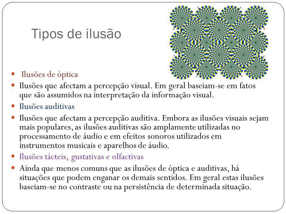Tipos de ilusão Ilusões de óptica