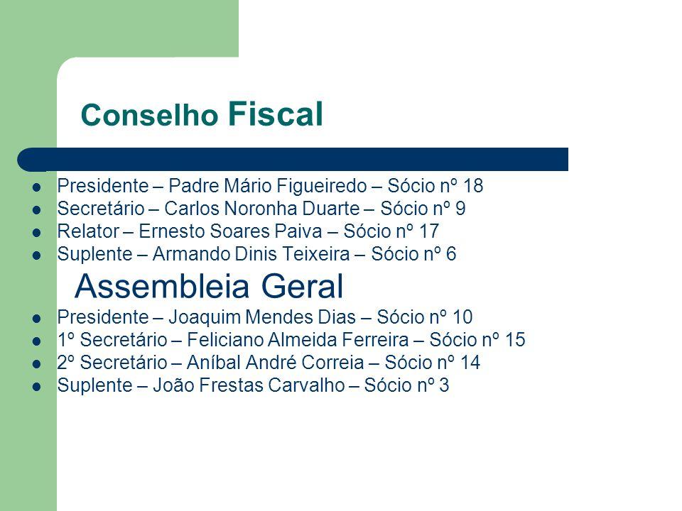 Assembleia Geral Conselho Fiscal