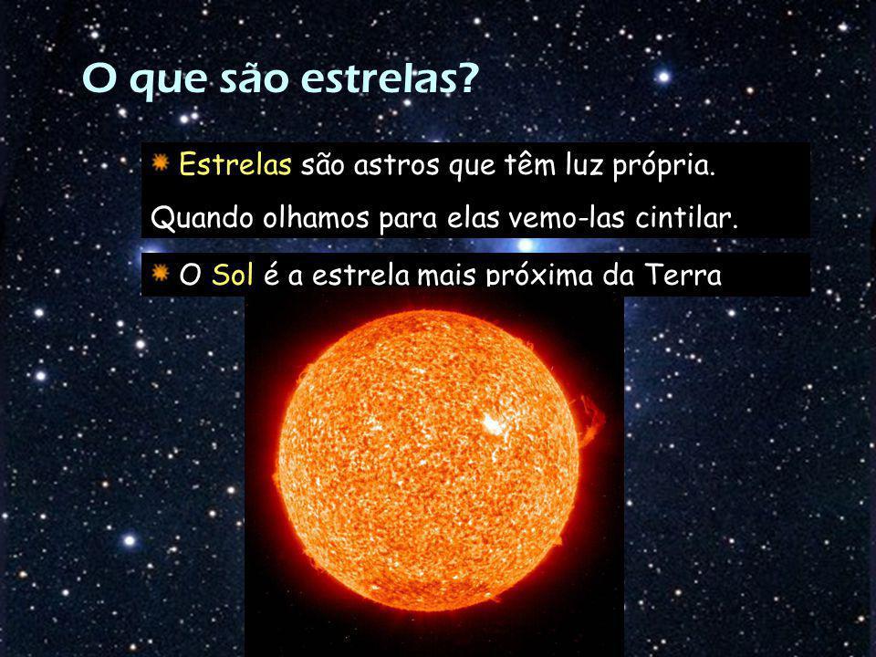 O que são estrelas Estrelas são astros que têm luz própria.
