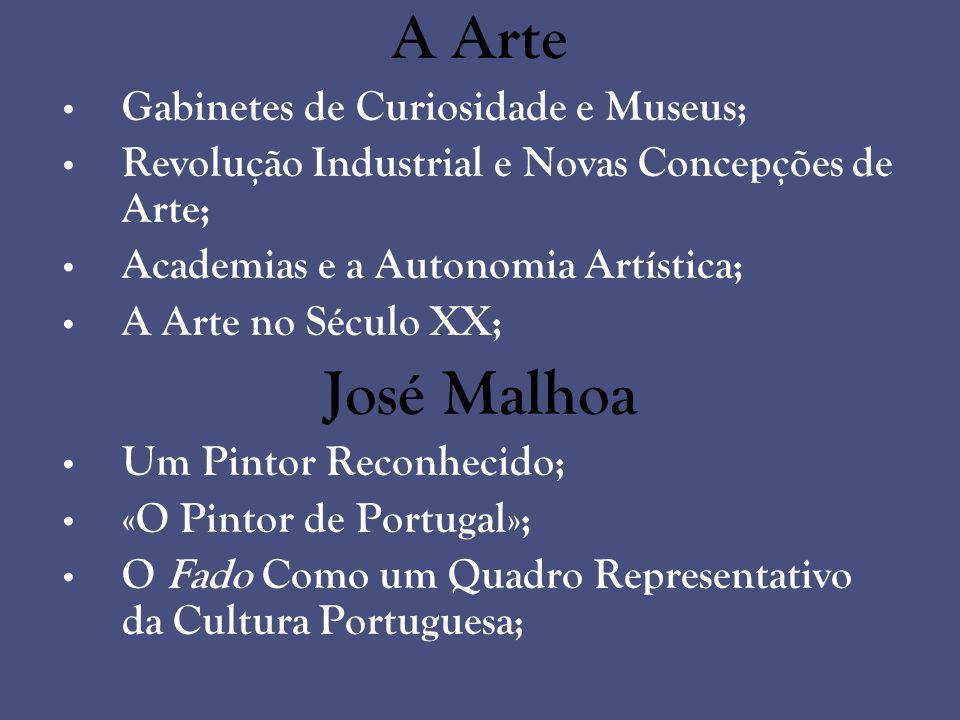 A Arte José Malhoa Gabinetes de Curiosidade e Museus;