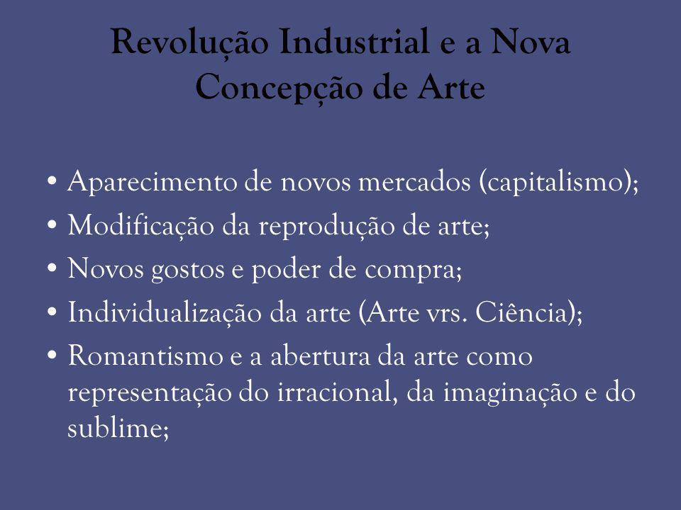 Revolução Industrial e a Nova Concepção de Arte