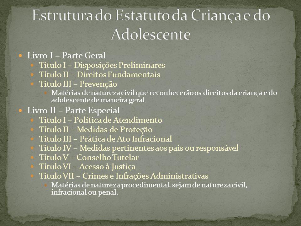 Estrutura do Estatuto da Criança e do Adolescente