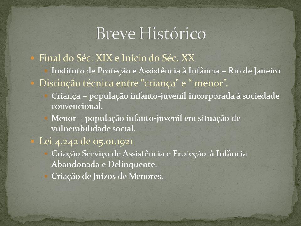 Breve Histórico Final do Séc. XIX e Início do Séc. XX