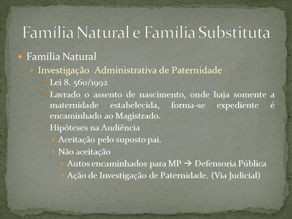 Família Natural e Família Substituta