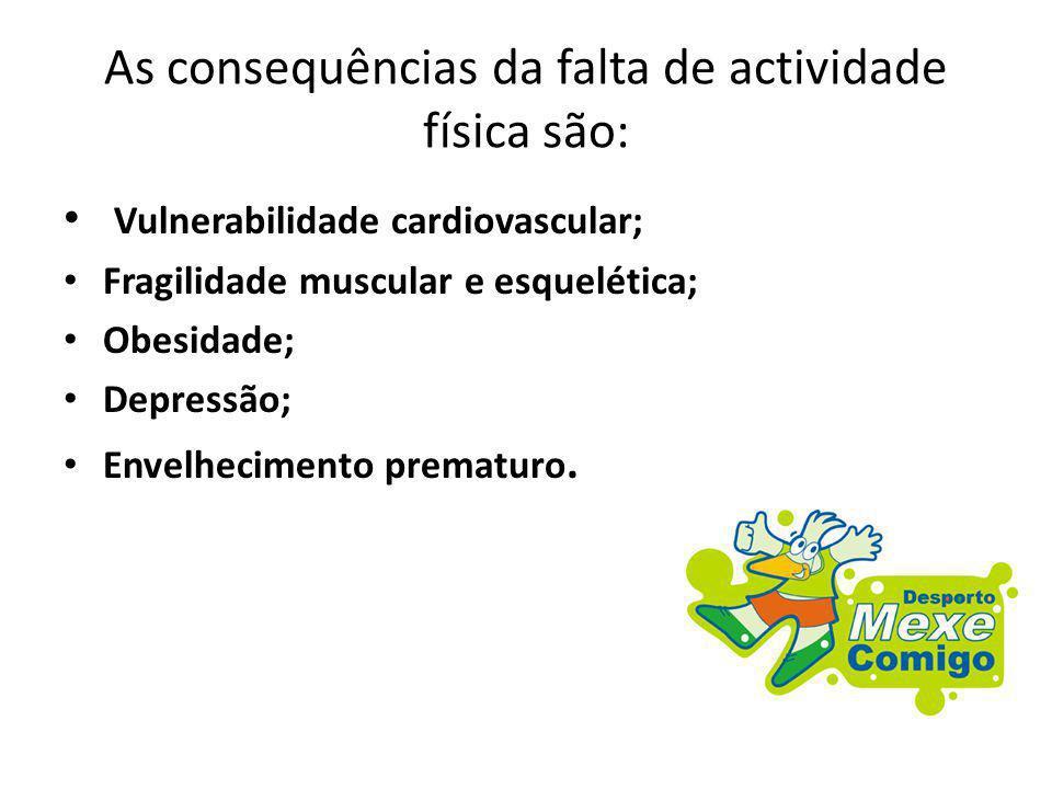 As consequências da falta de actividade física são: