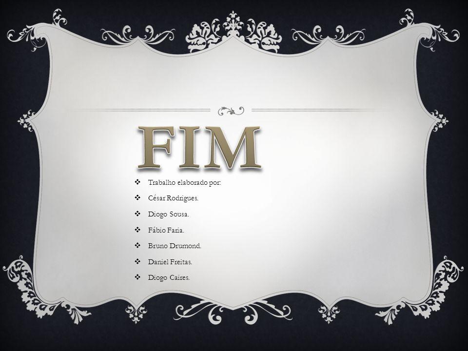 FIM Trabalho elaborado por: César Rodrigues. Diogo Sousa. Fábio Faria.
