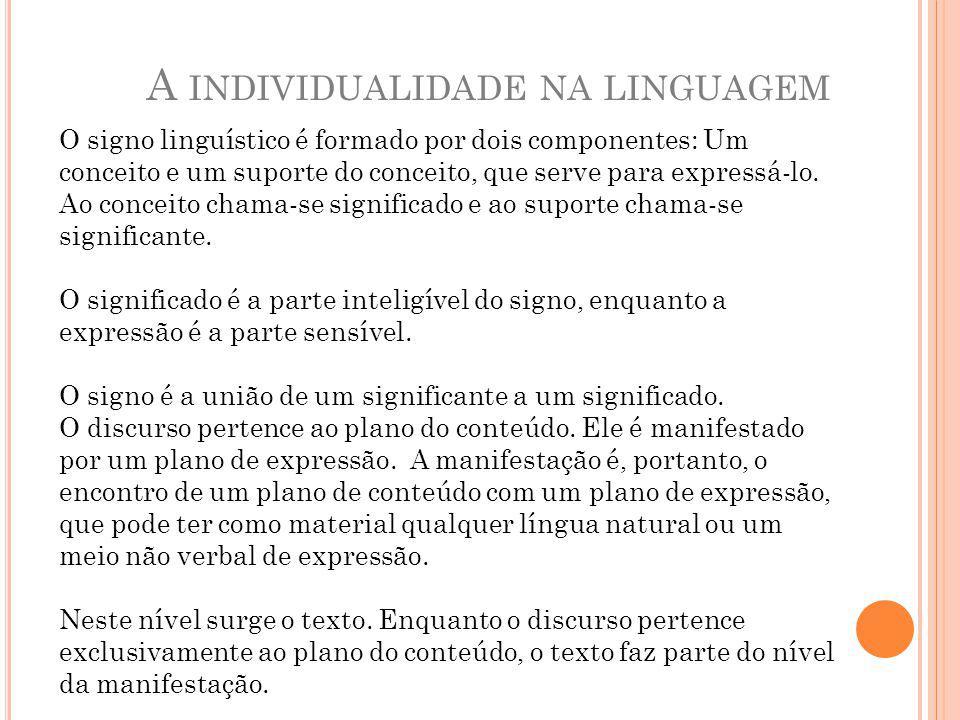 A individualidade na linguagem
