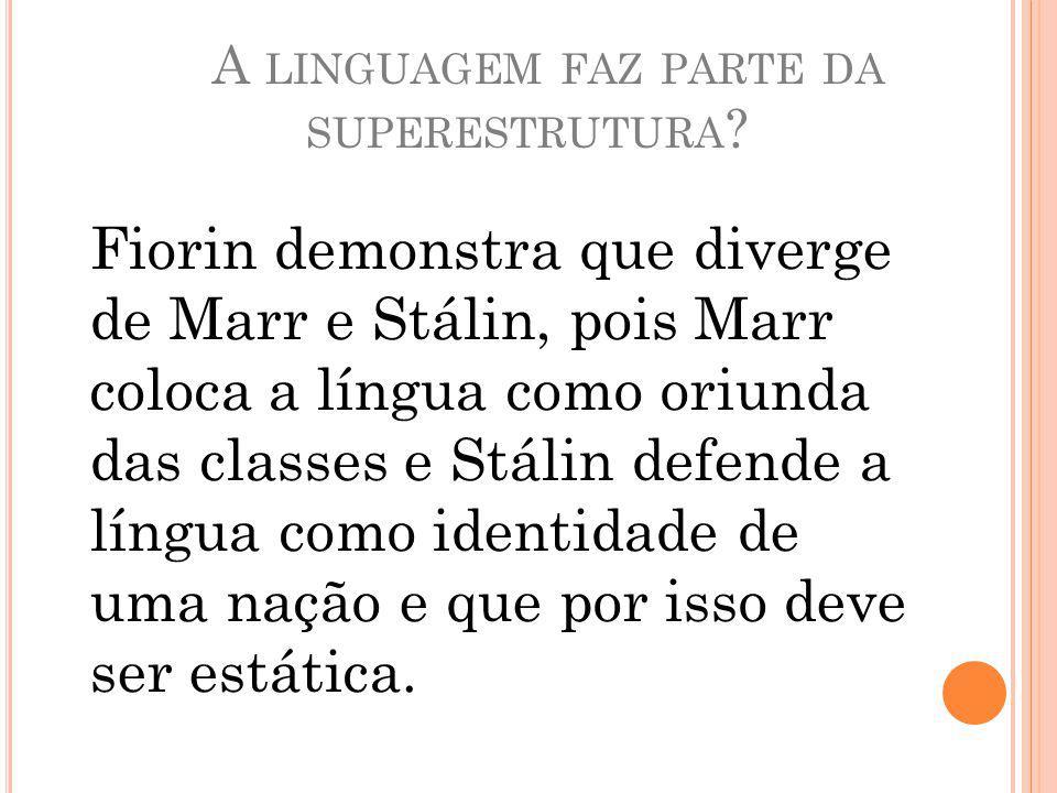 A linguagem faz parte da superestrutura