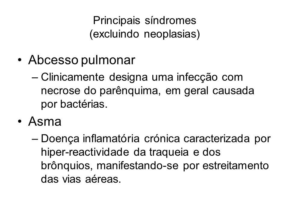 Principais síndromes (excluindo neoplasias)