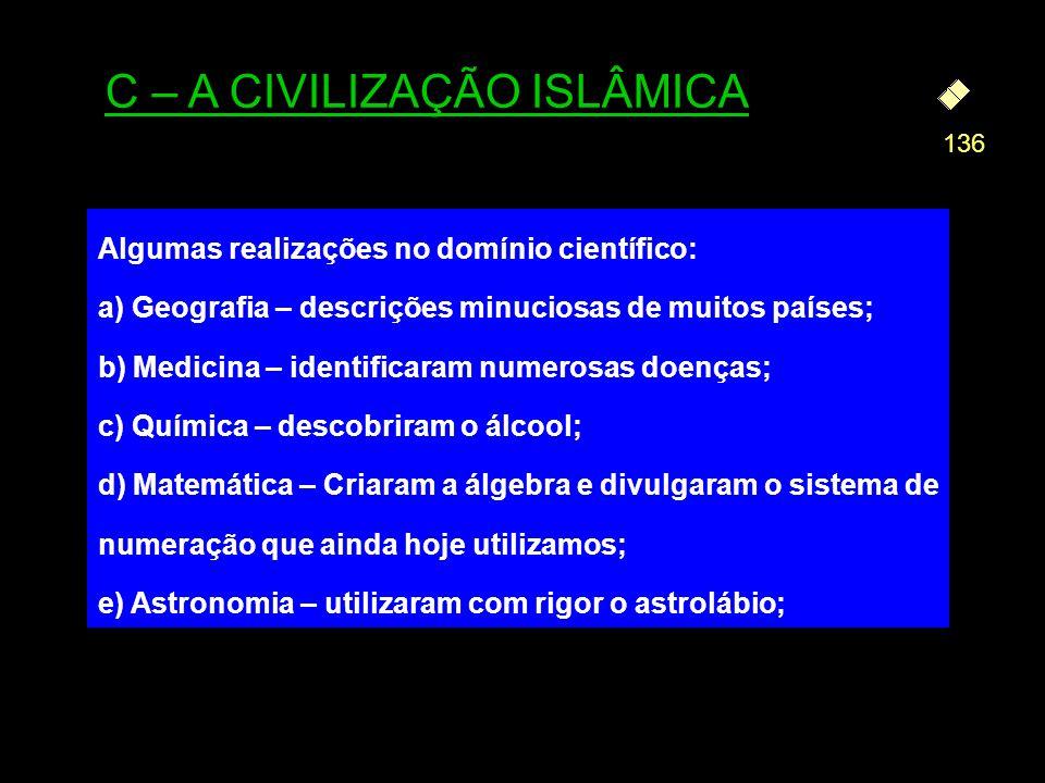 C – A CIVILIZAÇÃO ISLÂMICA