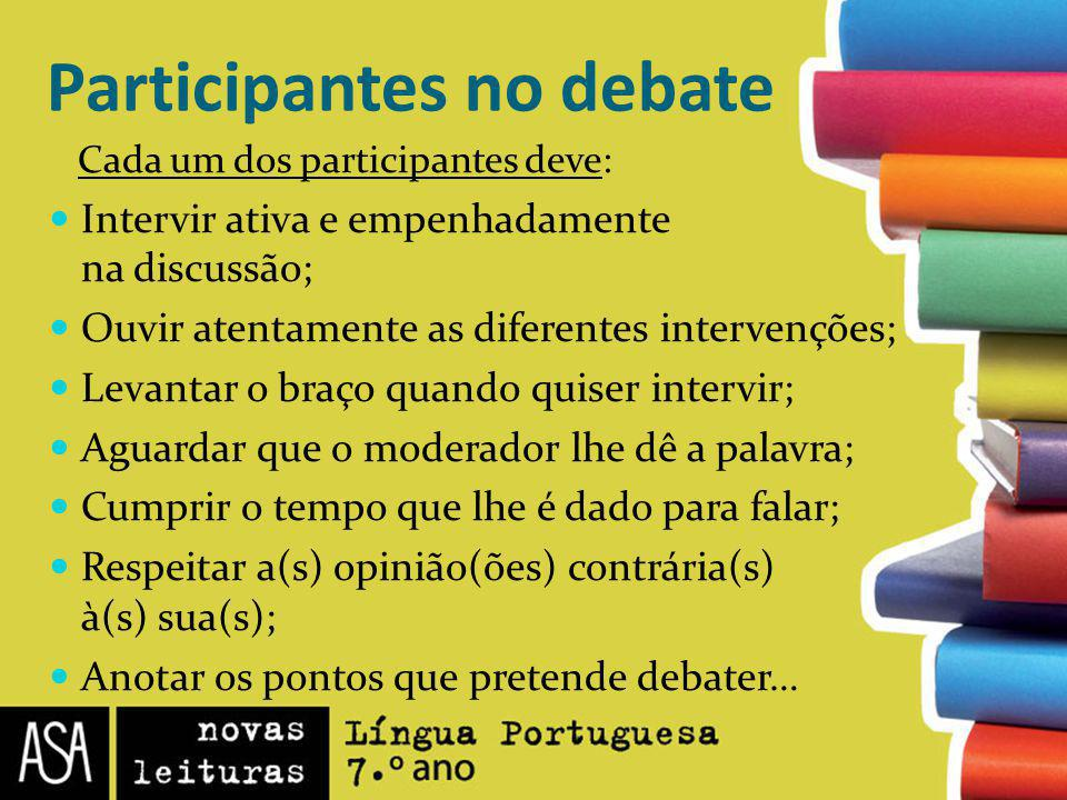 Participantes no debate